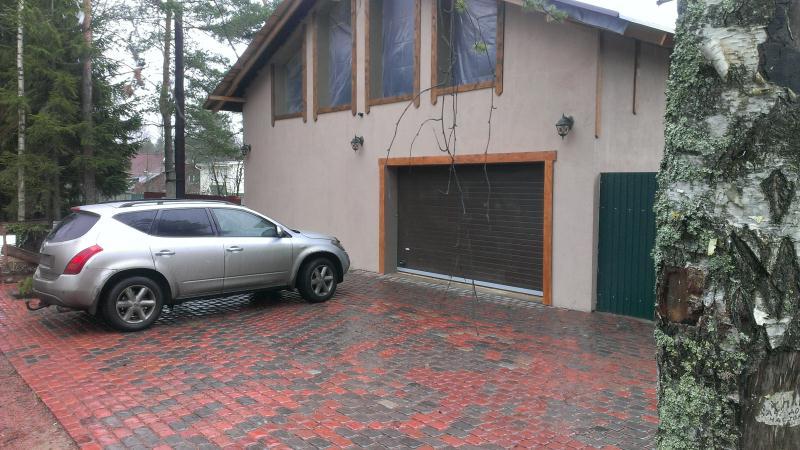 парковка из тротуарной плитки