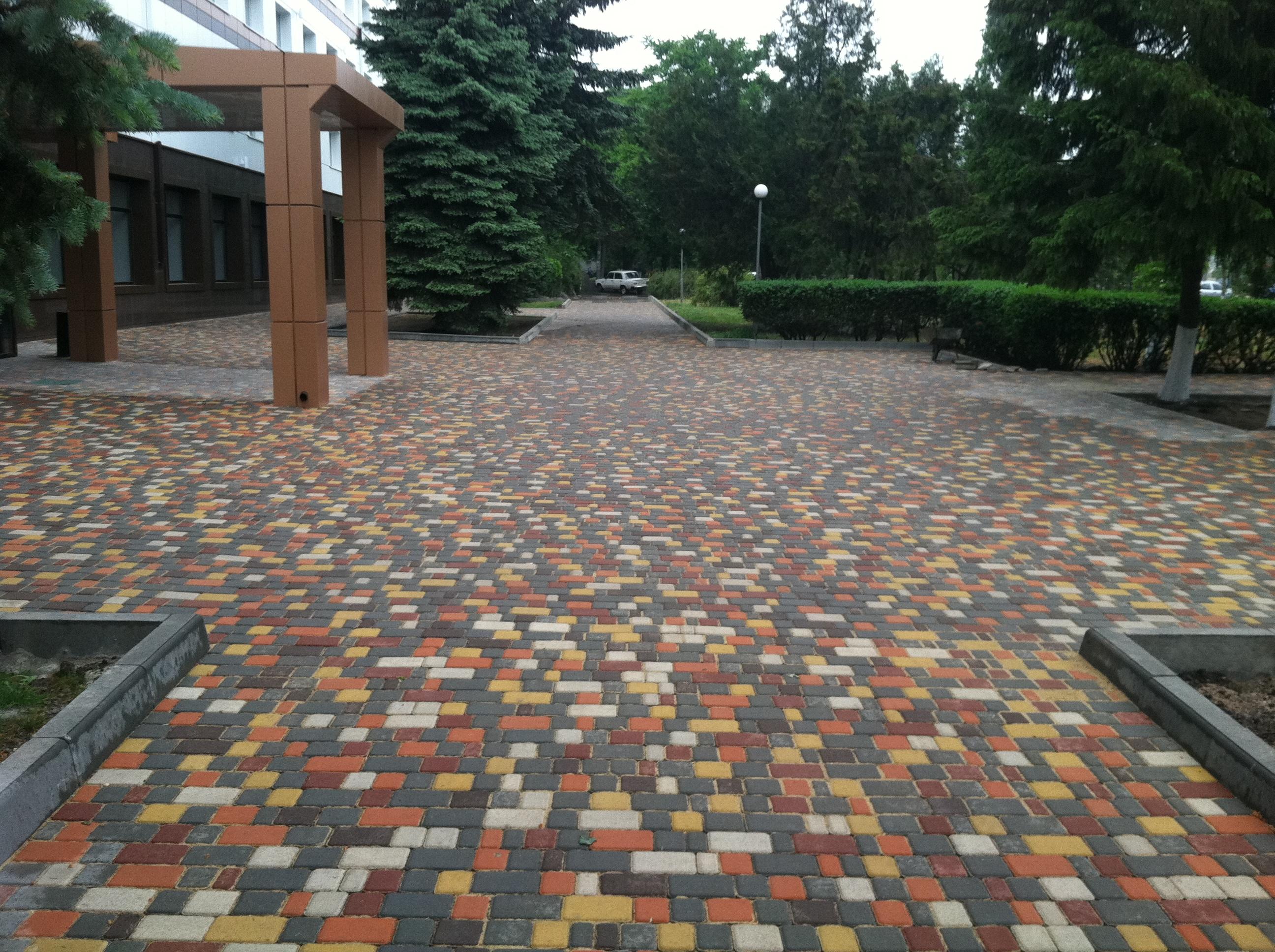 Тротуарная плитка старый город варианты укладки и цвета